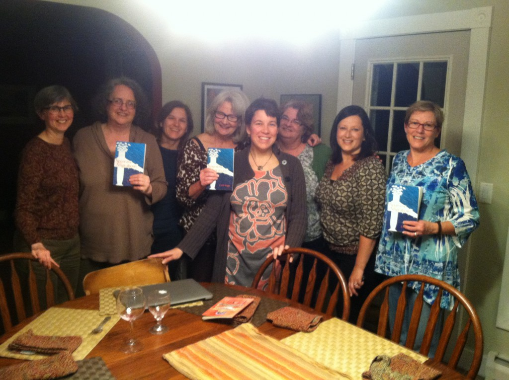 "Enjoyed the conversation, company and, of course, wine with the ""That's a Good One!"" book club. (They seemed to think Sparrow Migrations was.) April, 2014"