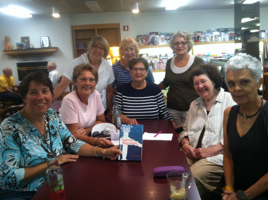 LIke the Renaissance book club, these ladies have already agreed to read my next book (still a WIP!) Thanks for your faith, ladies. (August, 2015)